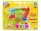 мыльные пузыри пистолет музыкальный со светом арт. 66639-43868